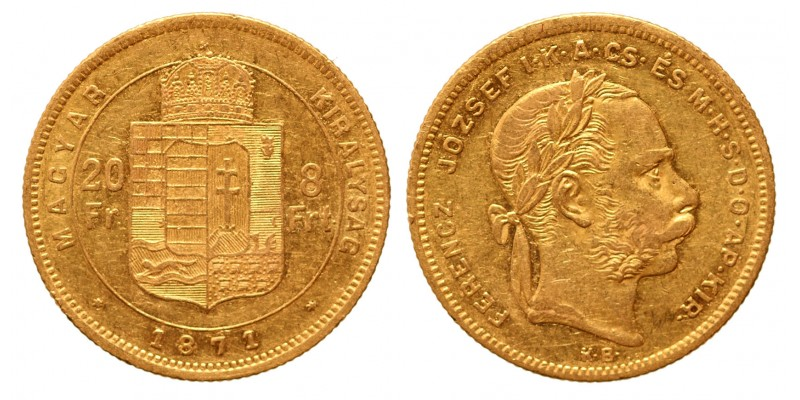 20 frank 8 forint 1871 KB