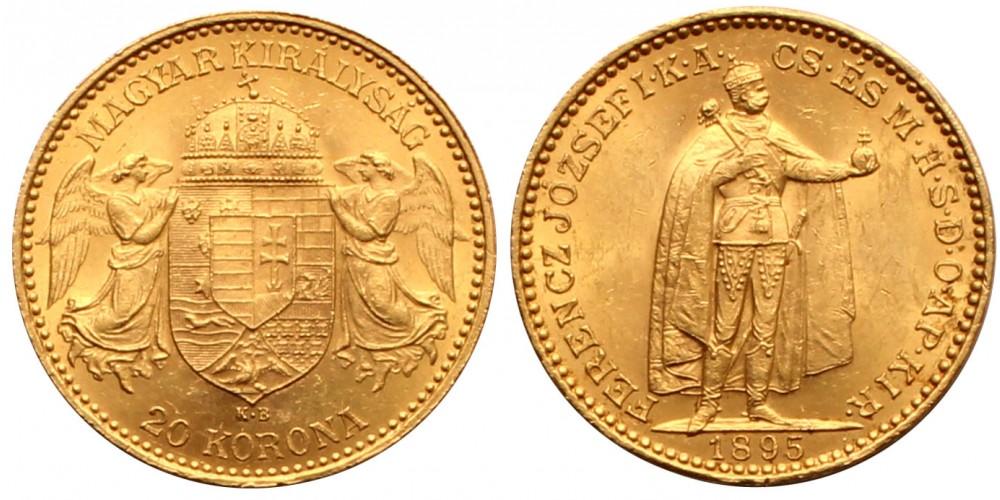 Ferenc József 20 Korona 1895 KB