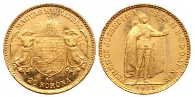 Ferenc József 20 Korona 1911KB