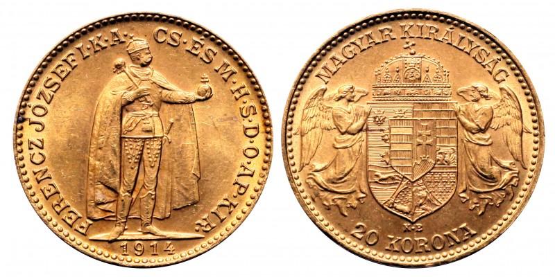 Ferenc József 20 Korona 1914 Bosznia