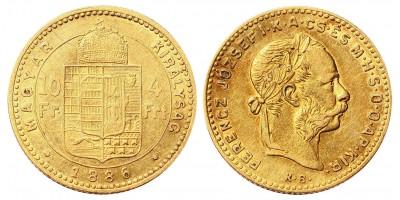 4 Forint 1886
