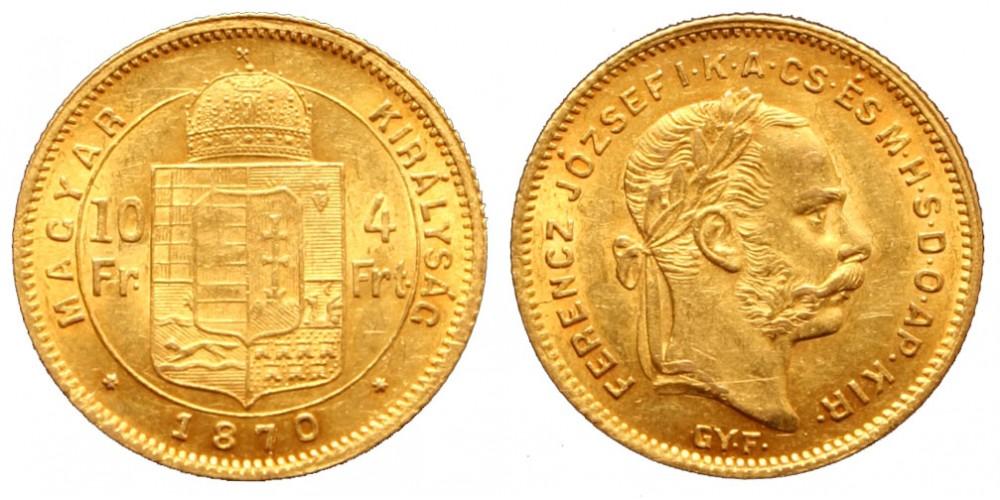 4 Forint 1870