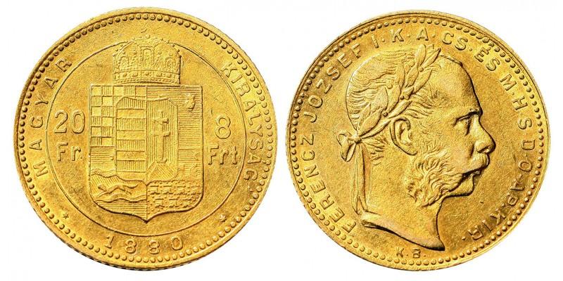 Ferenc József 8 Forint 1880 KB