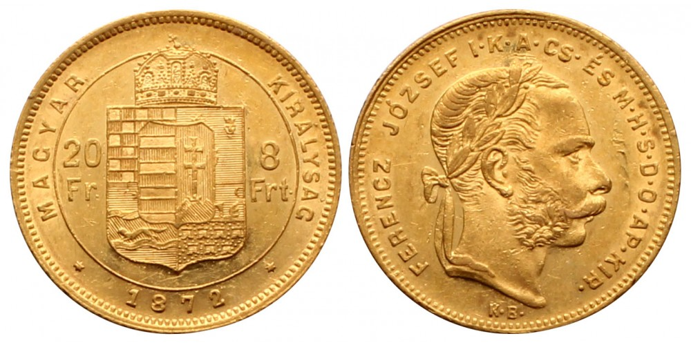 Ferenc József 8 Forint 1872 KB