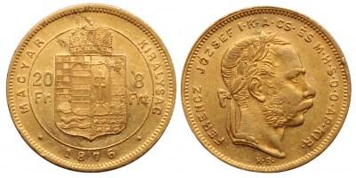 Ferenc József 8 forint 1876 KB