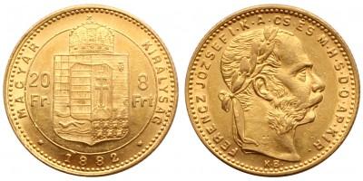 Ferenc József 8 Forint 1882 KB