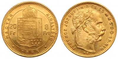 Ferenc József 8 Forint 1883 KB