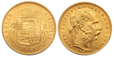 Ferenc József 8 Forint 1889 KB