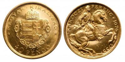 Rákóczi 40 pengő 1935 U.P
