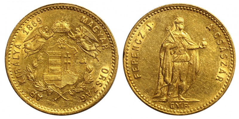 Ferenc József dukát 1869 GYF.