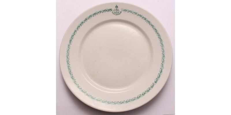 Folyamőr tiszti tányér, Zsolnay