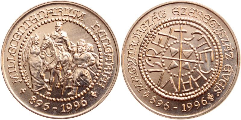 Millecentenárium ezüst emlékérem 896-1996