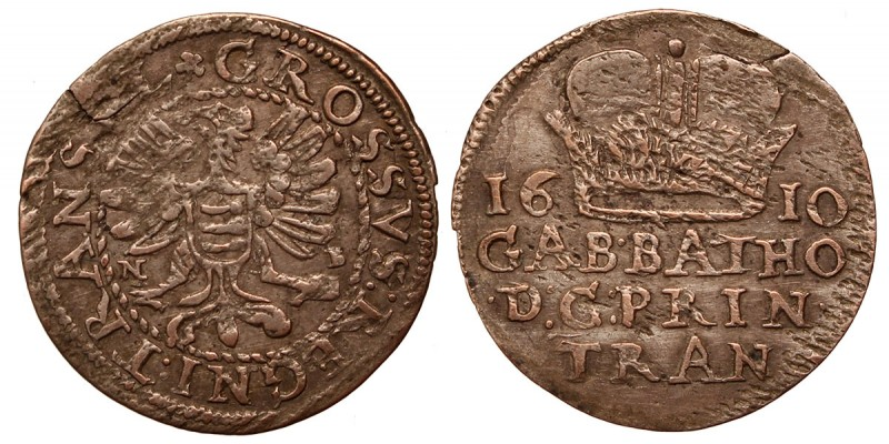 Erdély Báthory Gábor garas 1610 NB