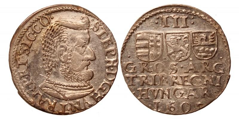 Erdély Bocskai István 3 garas 1605