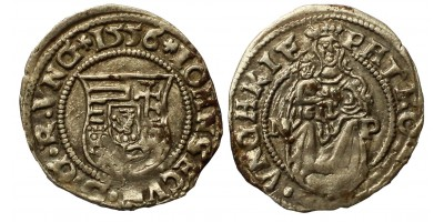János Zsigmond denár 1556 NP