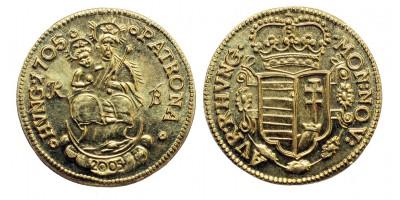 MÉE Budapest Rákóczi aranyforint 1705-2005
