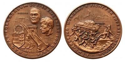1956-os Forradalom bronz érem