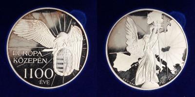 1100 éve Európa közepén ezüst érem PP