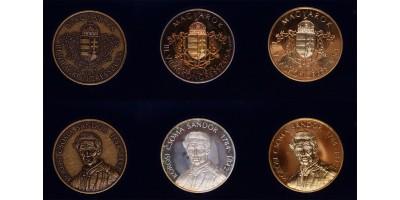 Kőrösi Csoma Sándor ezüst,bronz,aranyozott-réz érem 1992