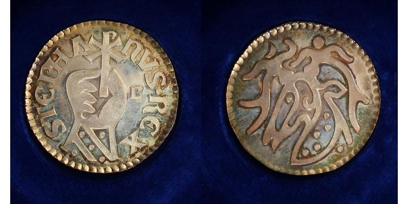 Szent István 969-1038 ezeréves Magyarország ezüst érem.