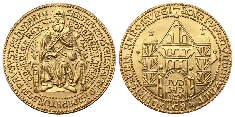Luxemburgi Zsigmond modern arany érem