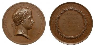 V.Ferdinánd Osztrák Ipari Kiállítás Bécs 1845 díjérem