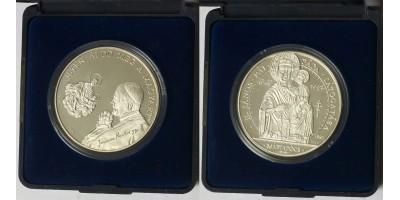 Pápalátogatás Máripócs ezüst érem 1991