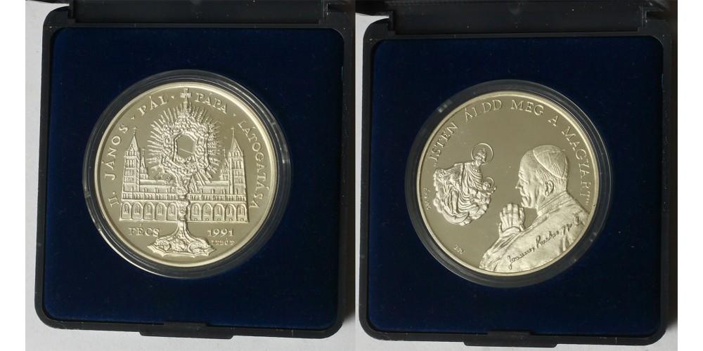 Pápalátogatás Pécs ezüst érem 1991