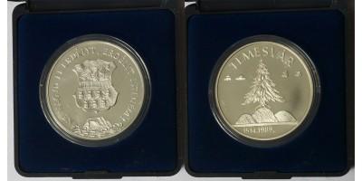Erdélyért,Temesvár ezüst érem 1989