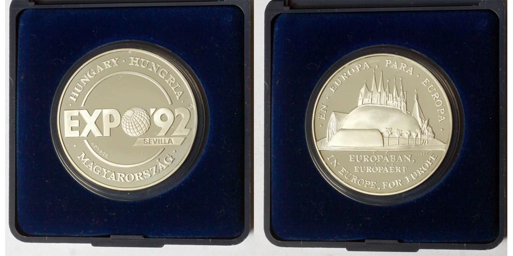 Expo'92 Sevilla ezüst és réz érem 1992