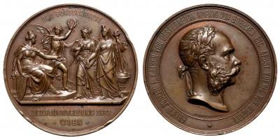 Bécsi világkiállítás 1873 bronz érem
