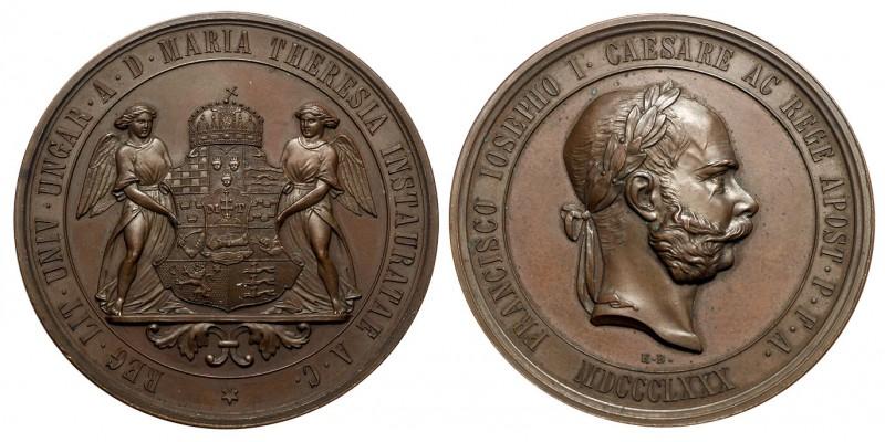 Ferenc József Nagyszombati Egyetem áthelyezése Budára jubileumi emlékérem 1880