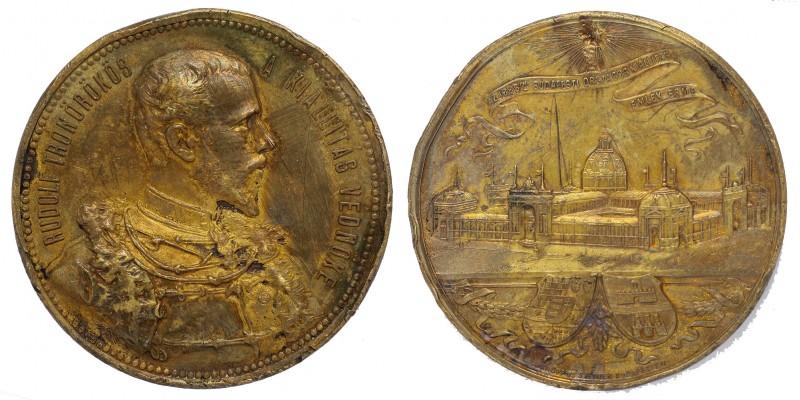 Budapesti Országos Kiállítás 1885 Emlékérme Rudolf trónörökös