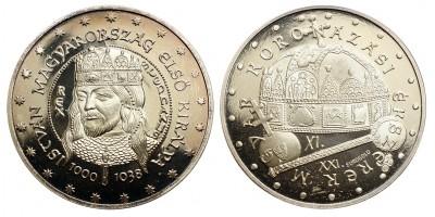 Szent István király 1000-1038 ezüst érem