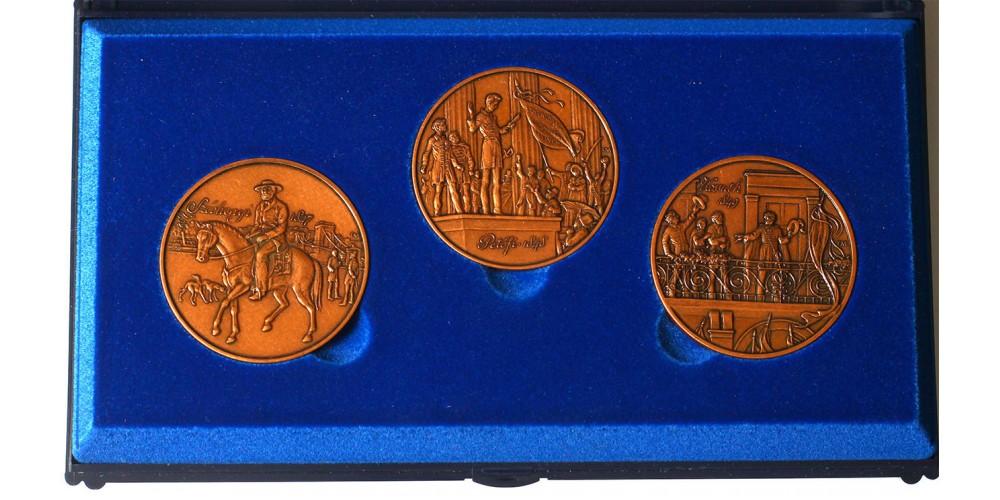 Magyar Forradalom és Szabadságharc 1848-49 bronz érmek