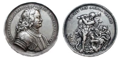 Rákóczi Ferenc erdélyi fejedelem ezüst emlékérem