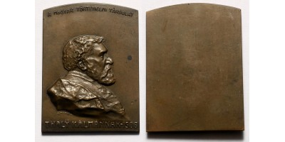 Thaly Kálmán bronz plakett 1906