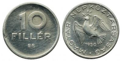 10 fillér 1950