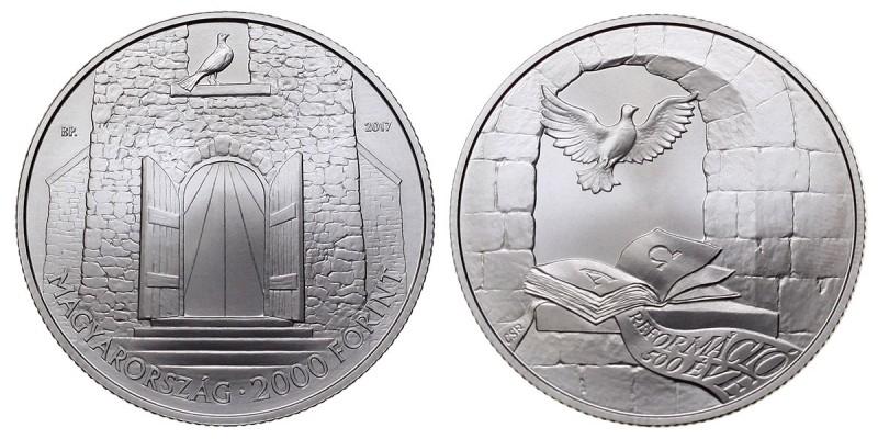 2000 forint a Reformáció 500.évfordulójára 2017 BU