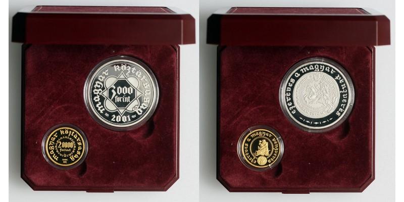 Ezeréves a magyar pénzverés 20000 forint és 3000 forint 2001