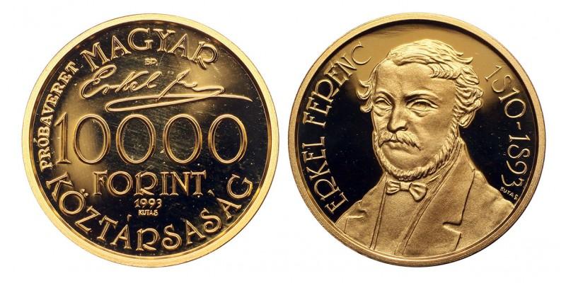 Erkel Ferenc 10000 forint 1993 PP RR! próbaveret