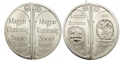 2000 forint Lórántffy Zsuzsanna 2000 BU