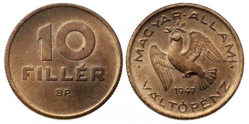 10 fillér 1947 utánveret