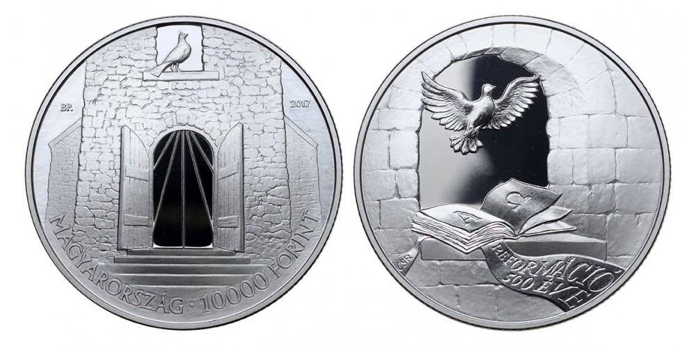 10000 forint a Reformáció 500.évfordulójára 2017