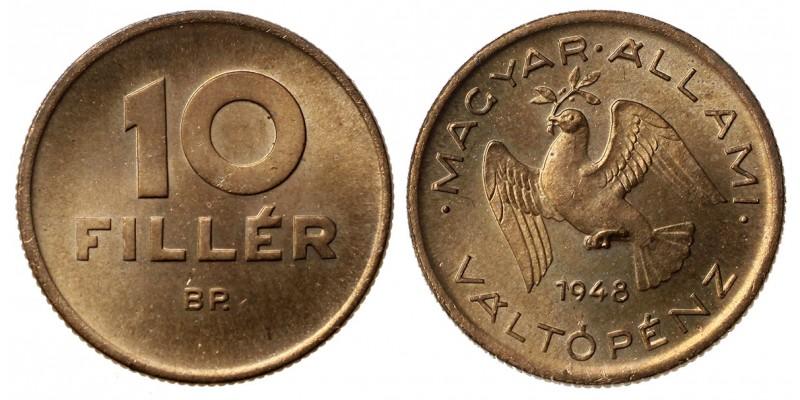 10 fillér 1948 utánveret
