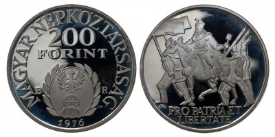 200 forint Rákóczi Ferenc 1976 PP