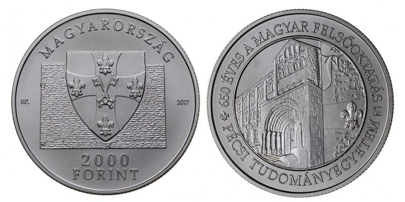 2000 forint 650 éves a Pécsi Tudományegyetem 2017 PP