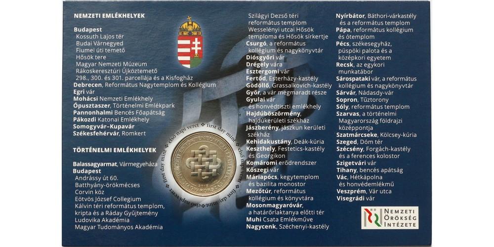 Nemzeti emlékhelyeink 50 forint 2015