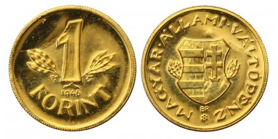 Mini arany 1 forint 1946
