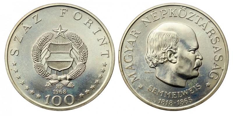 Semmelweis 50, 100 Forint 1968 BU